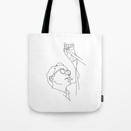 Jean-Luc Godard minimal line drawing Tote Bag