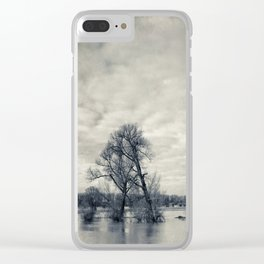 lean on me - flooded meadows Clear iPhone Case