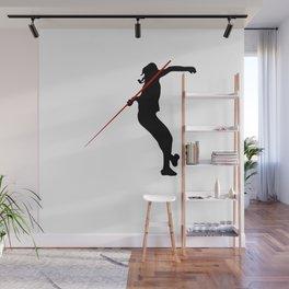 Javelin thrower.Sport tshirt  Wall Mural