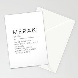 Meraki Definition Stationery Cards