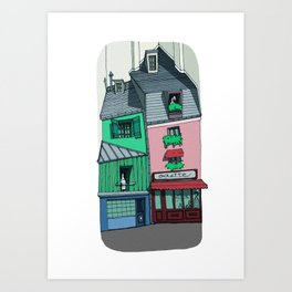 Odette, 5th arrondissement - Paris - France Art Print