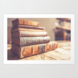 Bookish - Library Bookworm Books Art Print