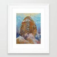 football Framed Art Prints featuring Football by Michael Creese