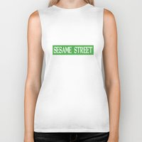 sesame street Biker Tanks featuring Im-Still-Kind-Of-Mad-They-Never-Actually-Told-Us-How-To-Get-To-Sesame-Street-T-Shirt by jekonu