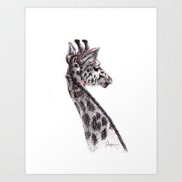 G-raffe Art Print