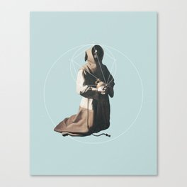 NOT Saint Francis in Meditation Canvas Print