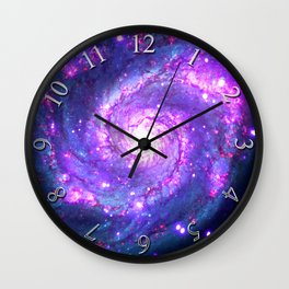 Ultra Violet Galaxy Wall Clock