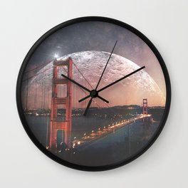 Goldie at sunset Wall Clock