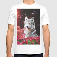 The Wolf MEDIUM Mens Fitted Tee White