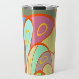 Distorted squares and circles Travel Mug