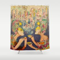 technology Shower Curtains featuring Apocalypse by Technology by Lennon Michalski