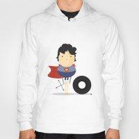 super hero Hoodies featuring My Super hero! by Juliana Rojas   Puchu