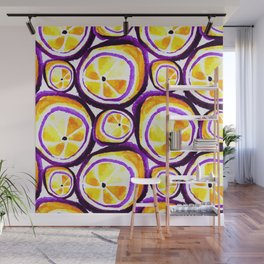 Sweet Plum Lemon Wall Mural