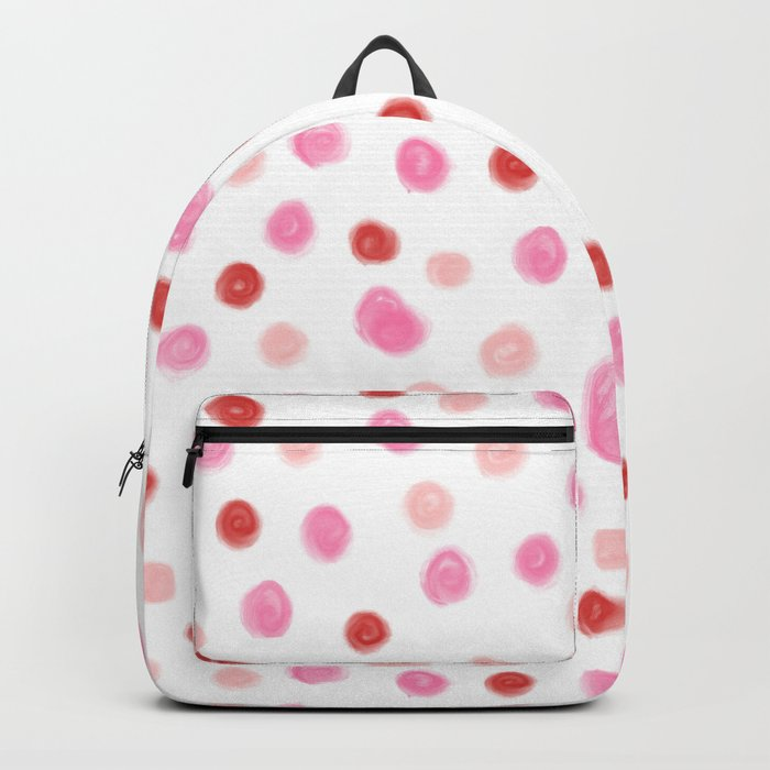dots pointed polka dot pattern red pink pastel painterly dot