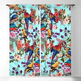 Floral and Birds XI Blackout Curtain