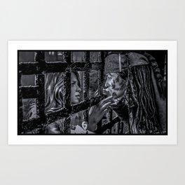 Supercorp- Commodore Kara + Pirate Lena Art Print