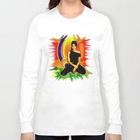 angelina jolie Long Sleeve T-shirts featuring Angelina Jolie by JT Digital Art