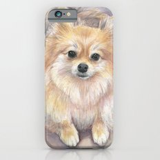 Pomeranian Watercolor Pom Puppy Dog Painting Slim Case iPhone 6s