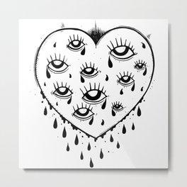 Eyes heart you Metal Print