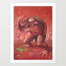 two headed kapa Art Print