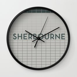 SHERBOURNE  | Subway Station Wall Clock