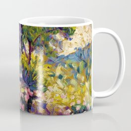 Henri Edmond Cross - The Flowered Terrace - Digital Remastered Edition Coffee Mug