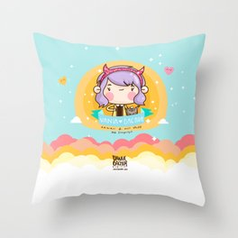 Kawaii heaven Throw Pillow