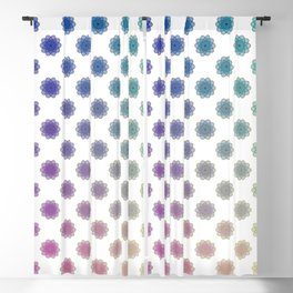 Ombre cyber atomic flower science print Blackout Curtain