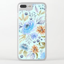Watercolor Floral Garden Clear iPhone Case