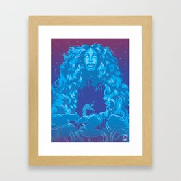 The Queen of TDE : SZA Framed Art Print