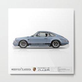 1967 Porsche 912R MEISSEN BLUE Metal Print