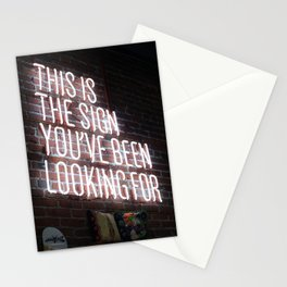 This Is The Sign You've Been Looking For Stationery Cards