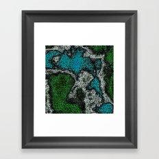 Mapped Framed Art Print