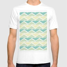 ocean triangles Mens Fitted Tee White MEDIUM