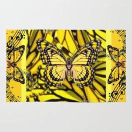 GOLDEN YELLOW MONARCH BUTTERFLIES MELODY Rug
