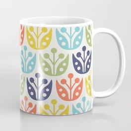 Mid Century Flower Pattern multicolored Coffee Mug