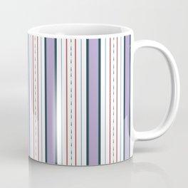 Purple and Red Stripe Coffee Mug