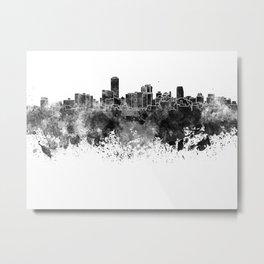 Adelaide skyline in black watercolor Metal Print