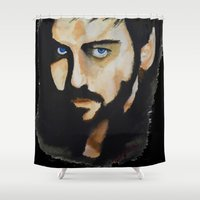 captain hook Shower Curtains featuring Hook by Brittany Ketcham