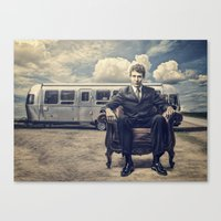 camping Canvas Prints featuring Camping by Fabrizio Calicchia