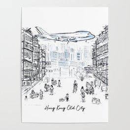 Hong Kong Old Kowloon City Poster