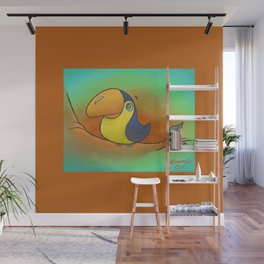 Baby Bird Smiling in the Jungle! Wall Mural