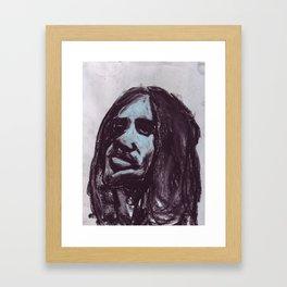 Frusciante in soft pastel Framed Art Print
