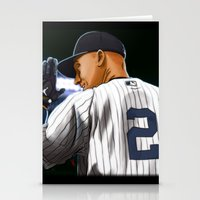 yankees Stationery Cards featuring Jeter by Ryan Ketley