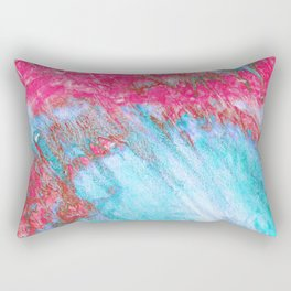 Storm in Cyan & Magenta Rectangular Pillow