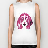 the hound Biker Tanks featuring Hound Dog by andiroses