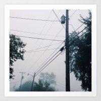 Foggy Lines Art Print
