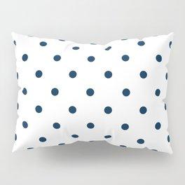 Navy Blue & White Polka Dots Pillow Sham