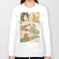 gustav klimt Long Sleeve T-shirts featuring Klimt Oiran by Sara Richard