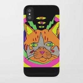 Hallucinogenic Kitty iPhone Case
